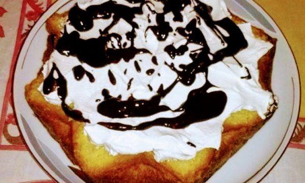 Torta con base pandoro