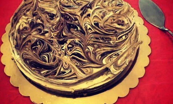 Cheesecake variegato alla nutella senza uova