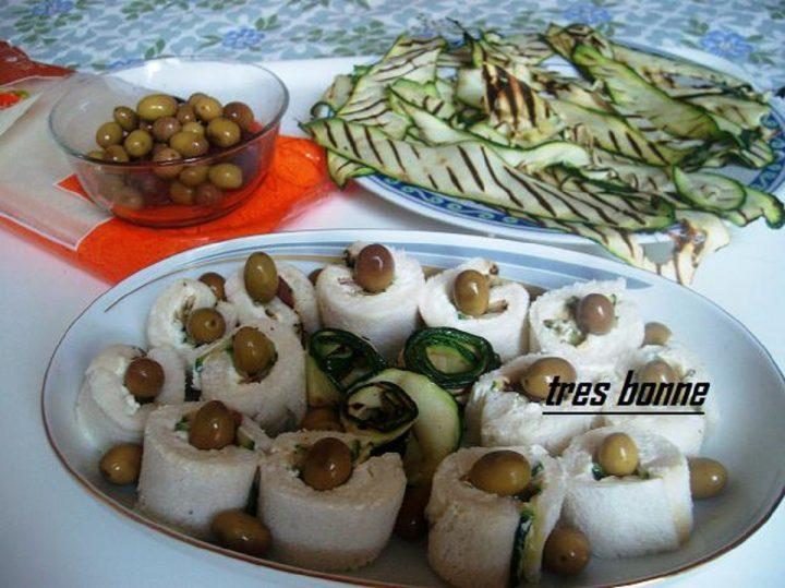 Tramezzini con zucchine grigliate