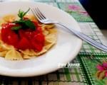 Pasta con pomodorini e menta