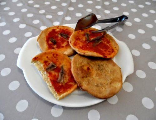 Pizzette senza lievito