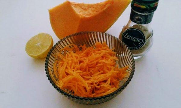Ricette con la zucca insalata cruda