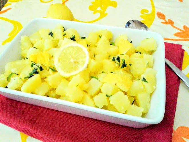 Patate lesse al limone