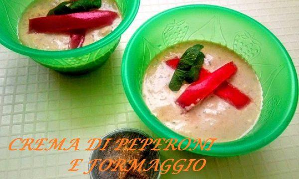 Crema di peperoni e formaggio per tramezzini