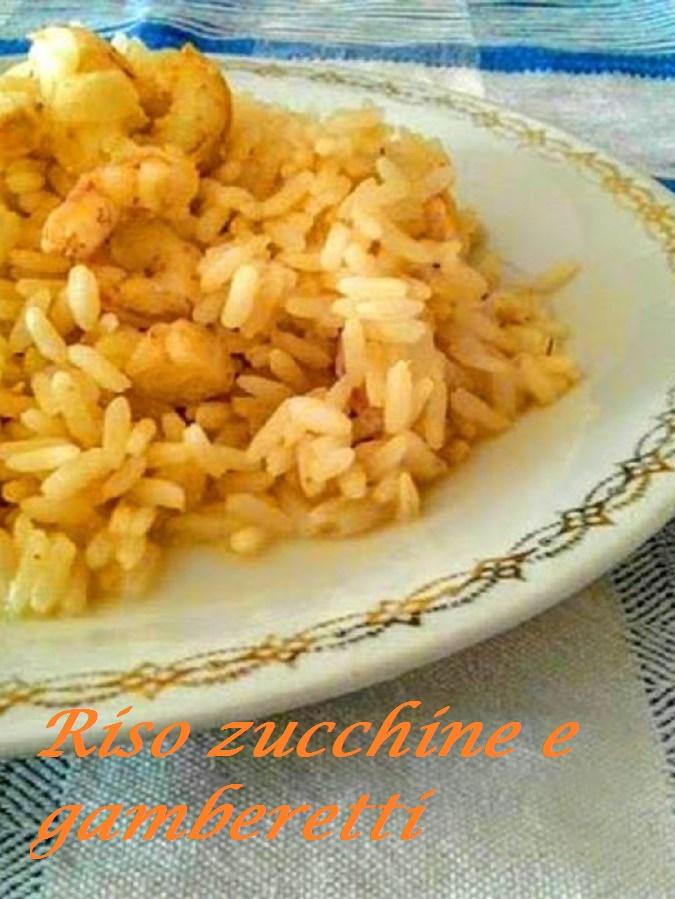 Riso zucchine e gamberetti