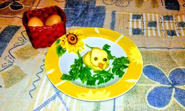 Pulcini di pasqua di patate