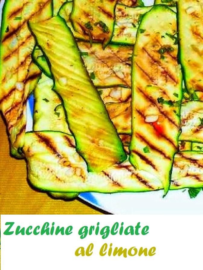 Contorno di zucchine grigliate