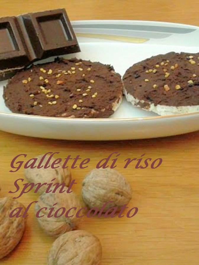 Gallette di riso al cioccolato sprint