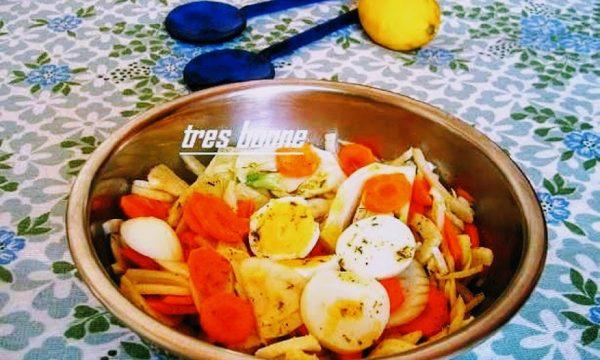 Contorno uova finocchi e carote