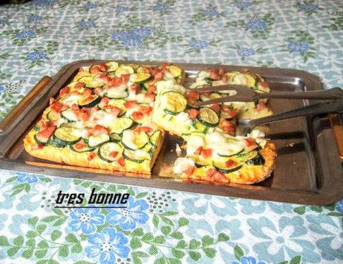 Torta rustica di zucchine