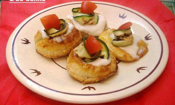 Pizzette mignon con i colori della bandiera italiana