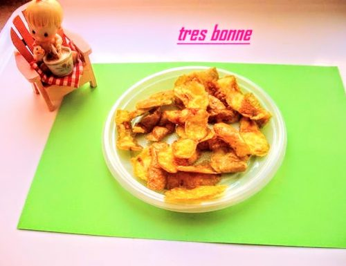 Patatine al microonde dalle cortecce