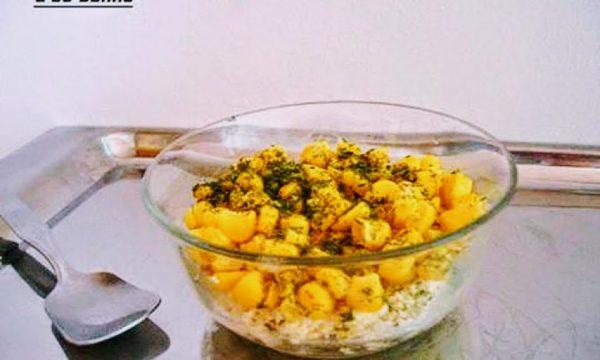 Coppa mimosa salata con chicchi di mais