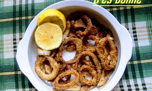 Anelli di seppie fritti