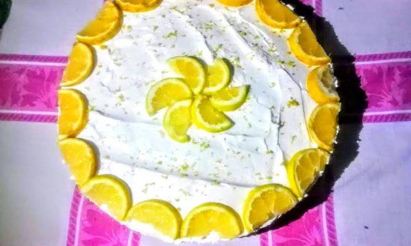 Cheesecake al limone senza cottura facile con panna e philadelphia