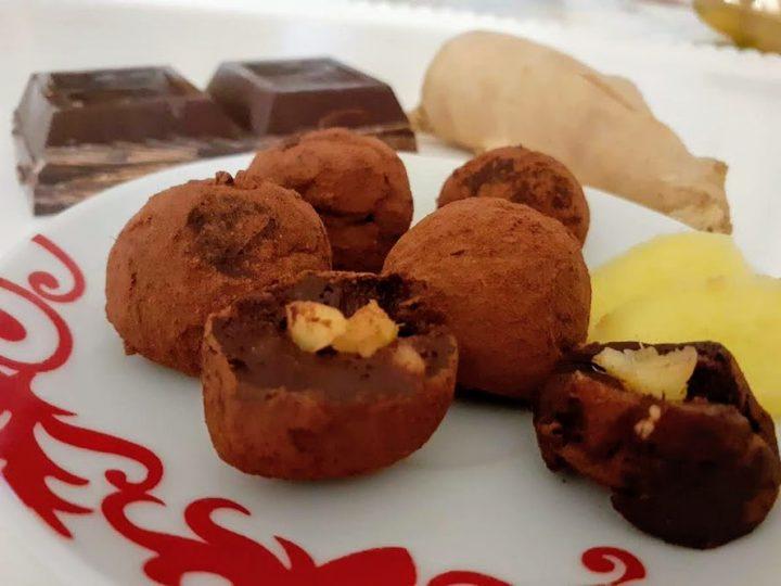 Cioccolatini allo zenzero fatti in casa
