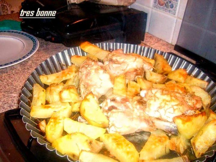 Pollo e patate al forno al rosmarino
