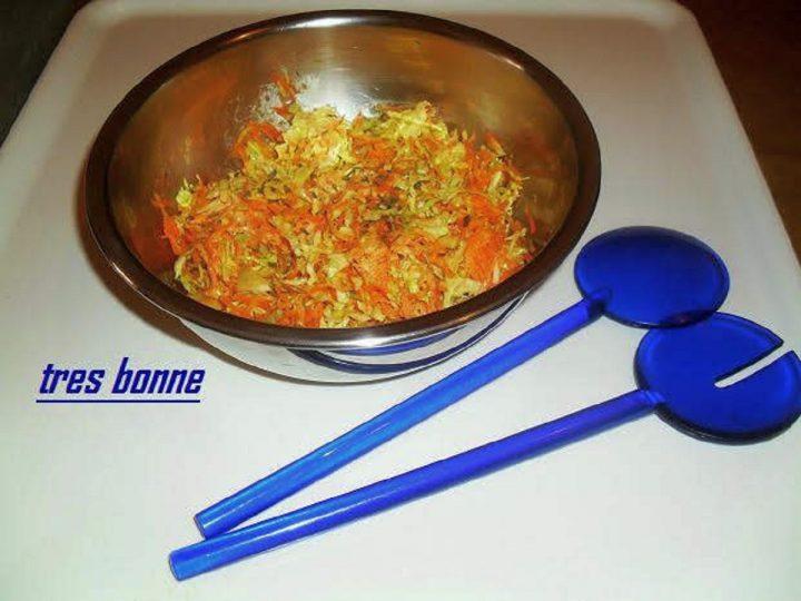 Insalata di cavolo cappuccio e carote crudi