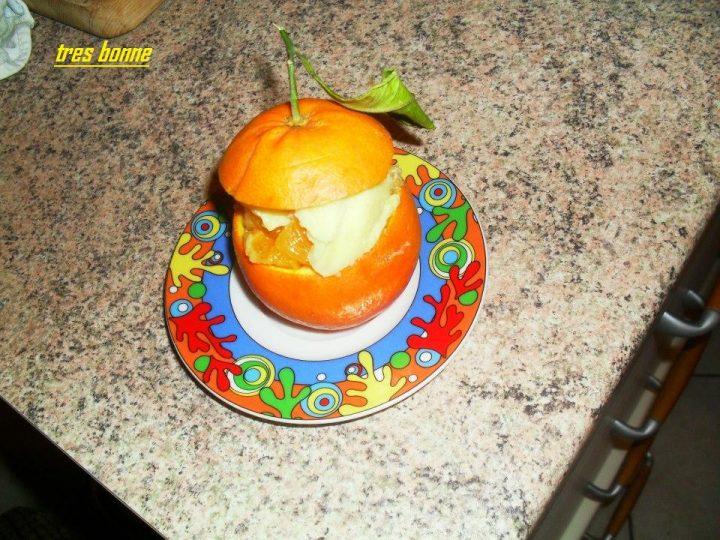 Arance al budino di vaniglia