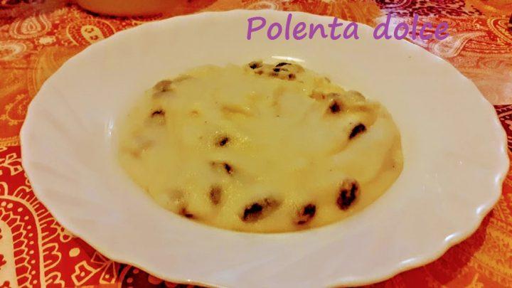 Polenta dolce con latte e uvetta