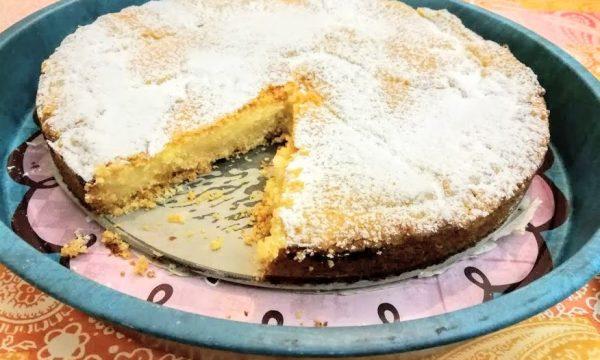 Torta della nonna ricetta tradizionale con crema al limone/monsieur cuisine