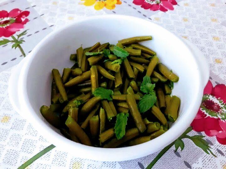 Fagiolini verdi alla menta ricetta light