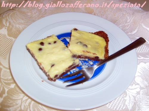 Cheesecake con gocce di cioccolato