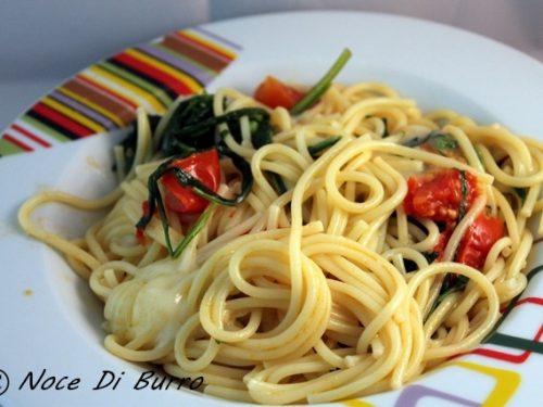 Spaghetti tricolore, ricetta primo piatto Noce Di Burro