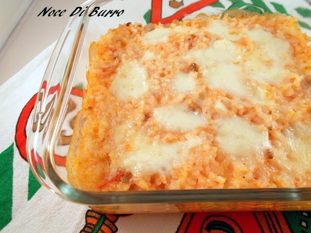Riso al forno, ricetta riciclo Noce Di Burro