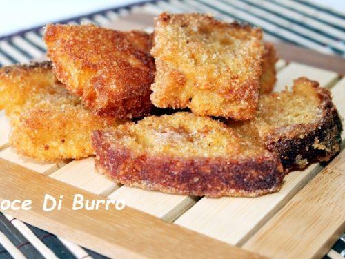 Pane fritto, ricetta fingerfood e del riciclo Noce Di Burro