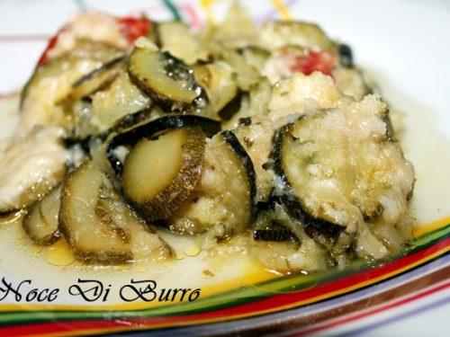Zucchina con pomodoro, ricetta Noce Di Burro
