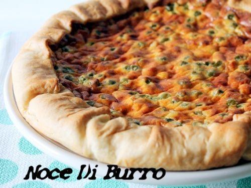 Torta salata ricotta e piselli, ricetta Noce Di Burro