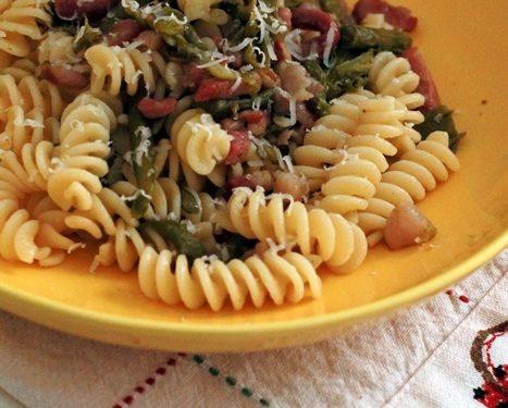Pasta asparagi e pancetta ricetta primo