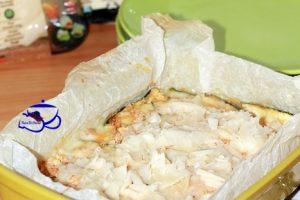 Parmigiana di zucchine con scaglie di raspadura