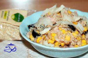 Insalata di quinoa al tonno con scaglie di raspadura