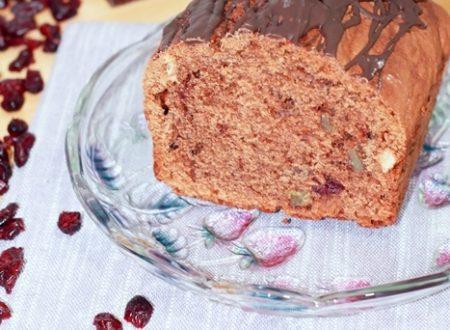 Plumcake cioccolato e ricotta con bacche di goji