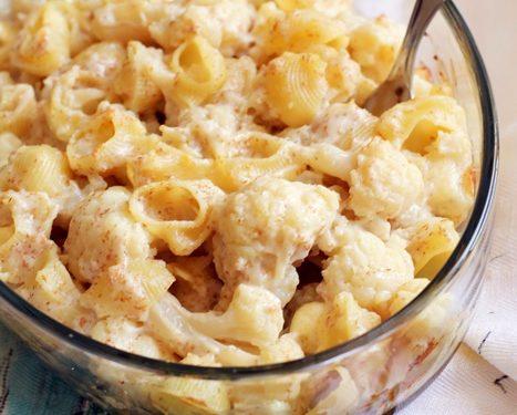 Pasta al forno con cavolfiore e formaggio brie