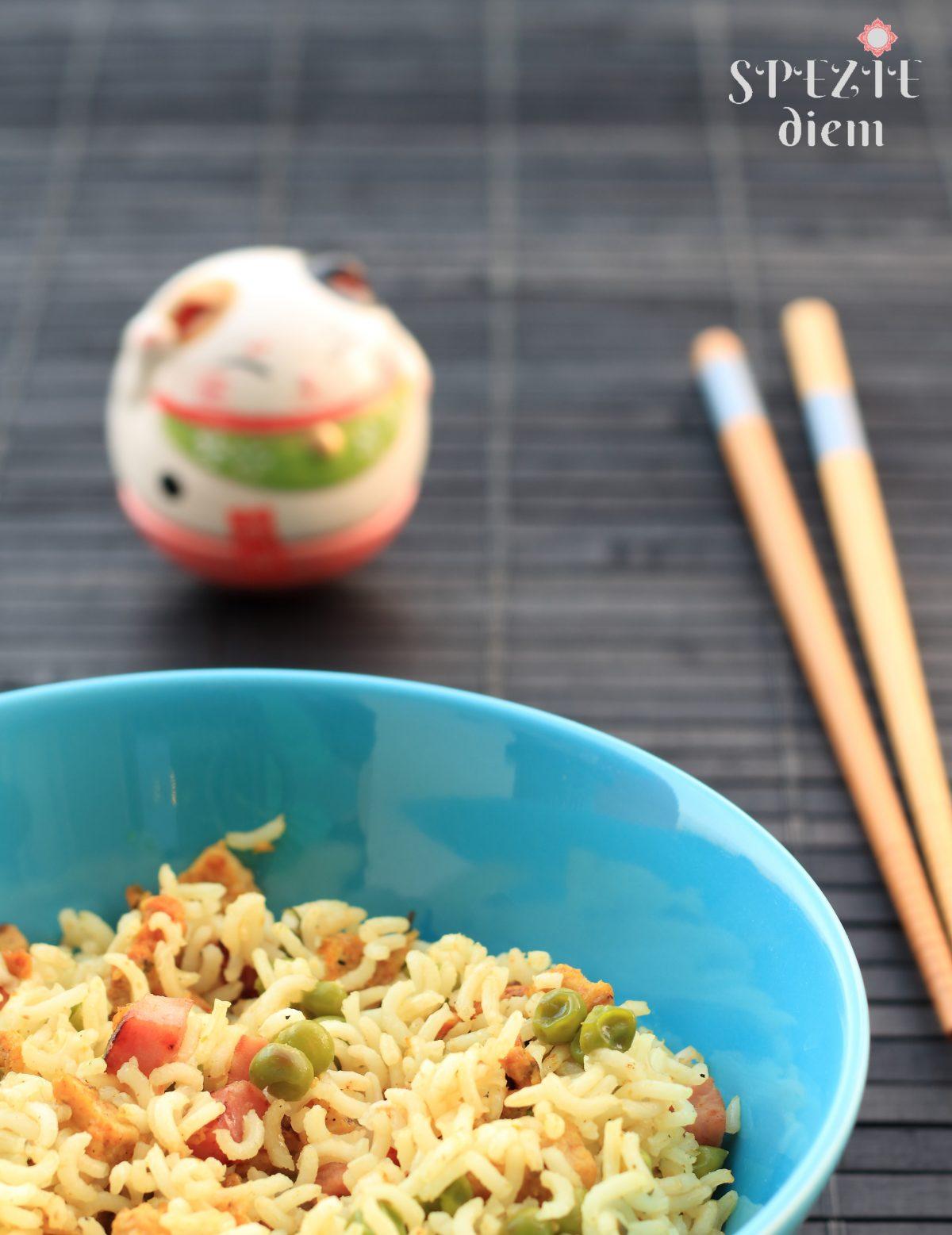 ricetta per riso alla cantonese con olio di oliva