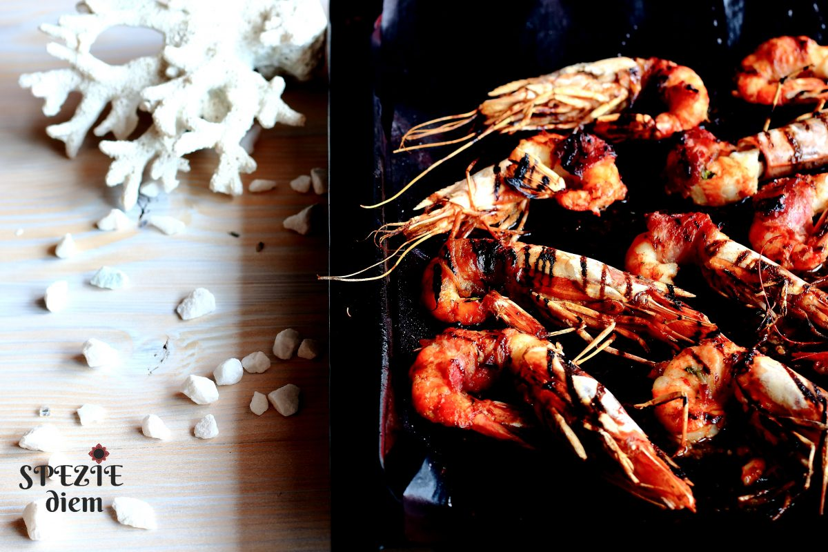 Cucinare gamberoni avvolti nella pancetta al forno for Cucinare 5 minuti