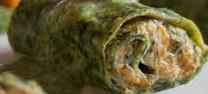 Crespelle verdi con zucca e ricotta