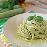 Trenette al pesto di zucchine e basilico