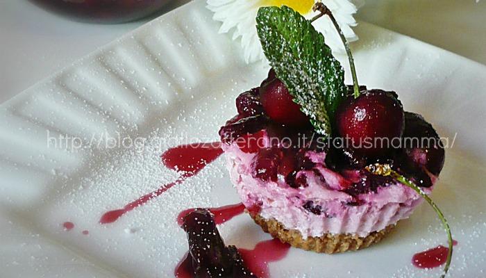 mini cheesecake di yogurt statusmamma ricetta dolci ciliegia ricetta foto cucinare statusmamma blog  tutorial