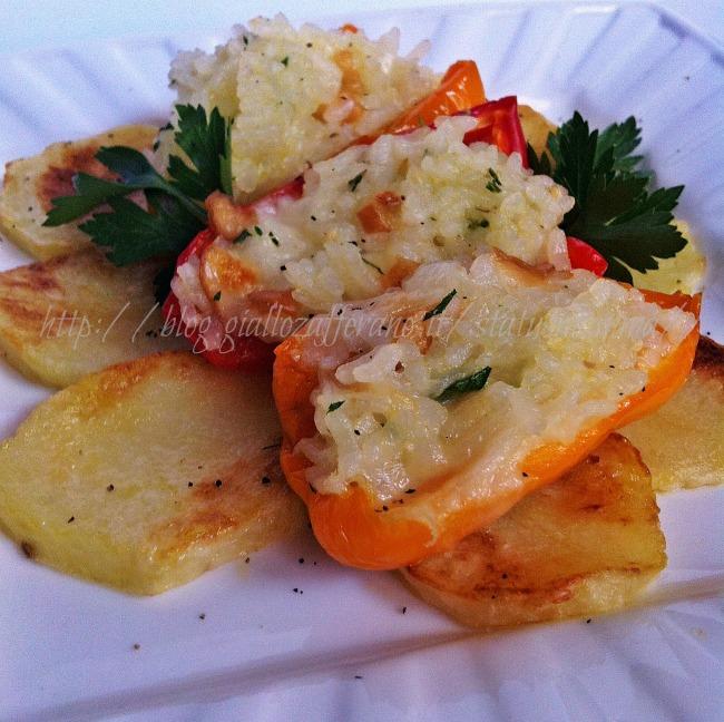Peperoni ripieni veloci con provola affumicata cottura for Sinonimo di veloce