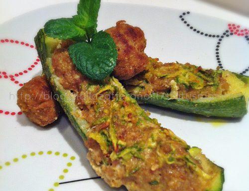 Ripieno di zucchine e carne con polpettine