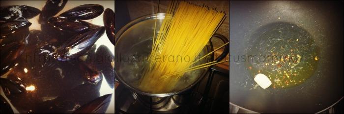 spahetti cozze piccanti status mamma ricetta primo cucinare foto