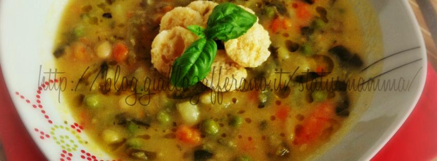 Minestrone estivo leggero ricetta fredda con verdure piatto semplice veloce pesto grok  statusmamma ricette per cucinare