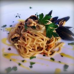 spaghetti cozze aglio olio e peperoncino status mamma ricette cucina primo PRIMI PIATTI ESTIVI DI MARE