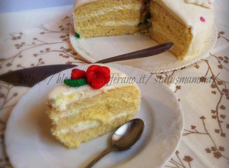 Farcitura e decorazione pan di spagna in pasta da zucchero