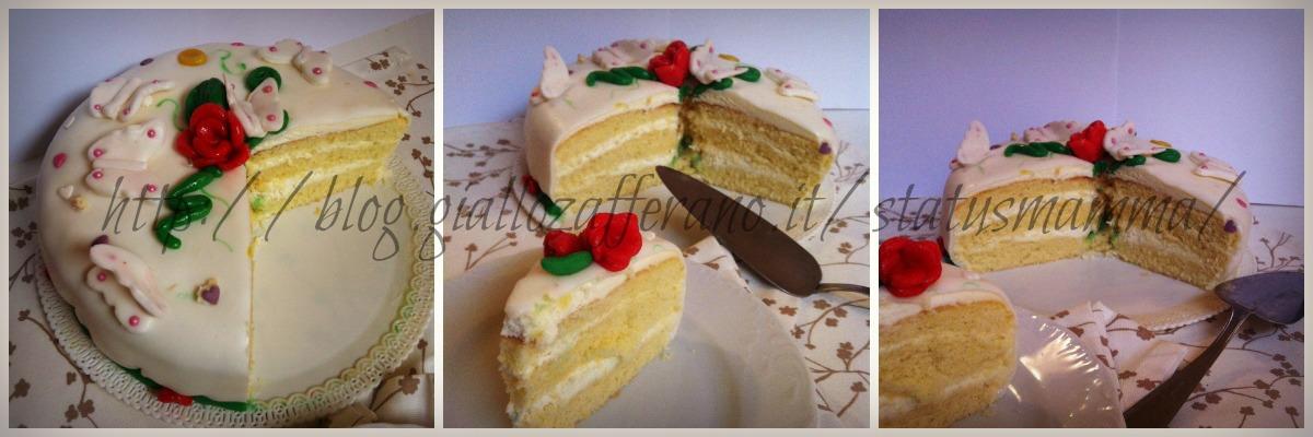 Farcitura e decorazione pan di spagna in pasta da zucchero status mamma torta compleanno ricetta bambini cucinare foto blog