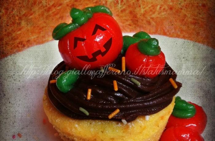Cupcake di zucca con ganache al cioccolato